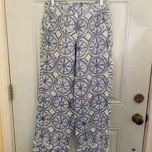 Tommy Bahama wide leg linen pants size 2